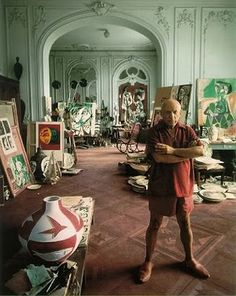 I would love to have a studio like Picasso's