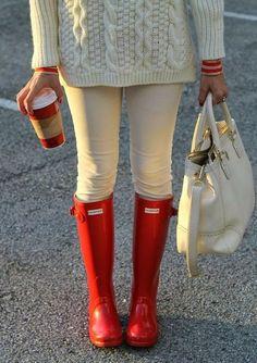 Tiffany Blue or Red Hunter Rain boots