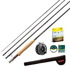 Redington Path 4 Piece Combo 456 Reel 6 Weight Line 90 ** See this great product. Topwater Lures, Rod And Reel, Fly Rods, Fishing Rod, Line, Action, Image Link, Check, Outdoors
