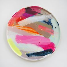 Image of Hand Painted Ceramic Platter 3 Summer 2016 Series / martinich and carran ceramics