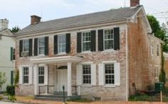 1840s brick | Historic Hollar House c.1840 | Victorian Houses - Brick 1