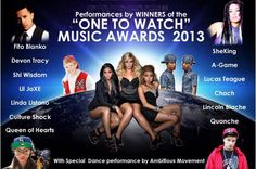 """MEET THE 2013 WINNERS! Are you wondering who will make it big next year? Then You must not miss the """"ONE TO WATCH"""" 2013 Music Awards Sept 22 at the TIFF Bell LIghtbox at 9pm. We think these amazing acts are going to take the music world storm!   MEET THE WINNERS!  A-Game  Culture Shock  Devon Tracy  Fito Blanko  Queen of Hearts  Lil Jaxe  Linda Listano  Quanche  Sheking  Shi Wisdom  Lucas Teague  Chach  Lincoln Blache    Featuring Special Hip Hop Dances by Ambitious Movement"""
