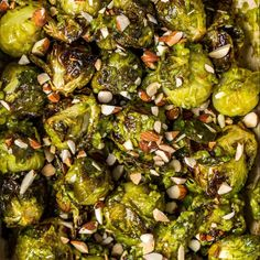 Crispy almond pesto sprouts 🥰 Perfect for using up any leftovers. I love these with lemony brown rice and pan-fried tofu or with a nut… Fall Recipes, Vegan Recipes, Vegan Foods, Pan Fried Tofu, Deliciously Ella, Roasted Almonds, Latest Recipe, Side Dish Recipes, Vegetarian Recipes
