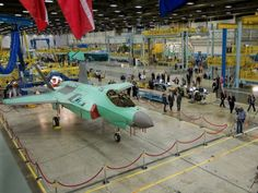 (The F-35 Lightning II fighter production facilities at Lockheed Martin in Fort Worth, Texas.Courtesy of Lockheed Martin)