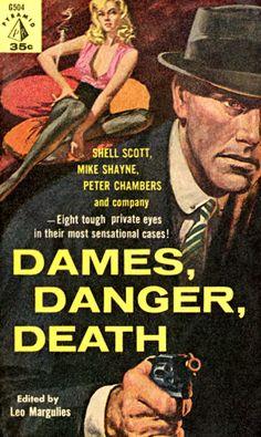 The Neon Wilderness - Leo Margulies, ed., Dames, Danger, Death, 1960; cover art by Harry Schaare