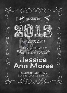 Custom Printable GRADUATION Invitation from D&M Designs just $10.00. So visit us on Facebook and get yours ordered today.   www.facebook.com/dmdesignsms