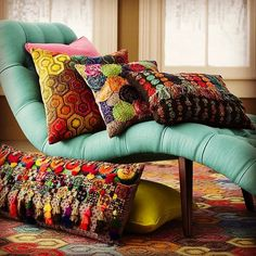 Get your boho on. Appreciative for the amazing response to the colourful handmade accent cushions in our Bright Bohemian Collection.