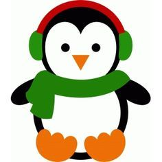 Silhouette Design Store - View Design #70384: christmas penguin 3