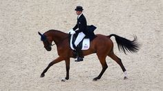 William Coleman riding Twizzel competes in the Dressage Equestrian