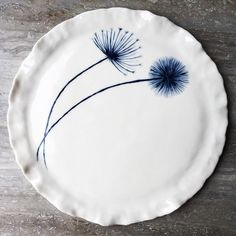 Hand painted porcelain plate it will be with me tomorrow at Mosman Art Gallery #handpainted #ceramics #pottery