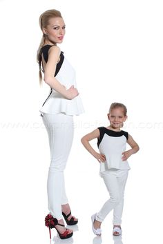 Elegant tunic & leggings set - surprise you little girl with this stunning ladies set. Made to order is also available for this item. You're kindly welcome at: http://caramella-online.com
