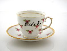 Tea Cup Inspired By Lady Gaga  Mature by LennyMud on Etsy, $14.00