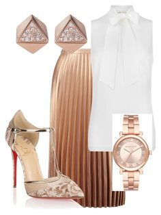 #SUNDAYBEST by reeseebony on Polyvore featuring polyvore fashion style MICHAEL Michael Kors Miss Selfridge Christian Louboutin Michael Kors FOSSIL clothing