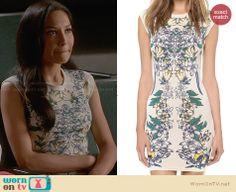 Santana's white floral dress on Glee.  Outfit Details: http://wornontv.net/29443/ #Glee