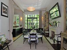Uma Thurman Greenwich dining room