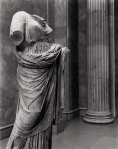 Marble statue of a woman  Period: Late Classical Date: 2nd half of the 4th century B.C. Culture: Greek Medium: Marble Dimensions: Overall (H. w/ plinth): 68 1/8 in. (173 cm)