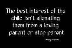 Make sure the best interest of the children is all that you think about when making decisions!