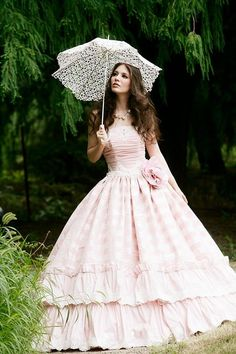 rain, rainy day, umbrella, parasol, fairytale, princess, dress
