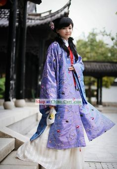 Ancient Chinese Ming Dynasty Lady Clothing Three Pieces Set