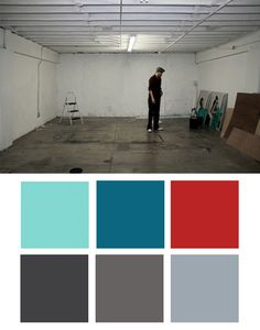 Grey, Red and Tiffany blue color combo! Love it!