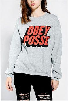 OBEY POSSE crew neck