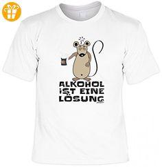 Party Fun T-Shirt mit Motiv - Alkohol ist eine Lösung - als Ersatz zu Lederhose fürs Volksfest und Wiesn, Größe:5XL - Shirts mit spruch (*Partner-Link)