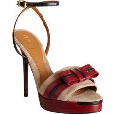 ec6de38a5d8e Bow Platform Sandals by Fendi  shoes  shoeintoxication  fendi