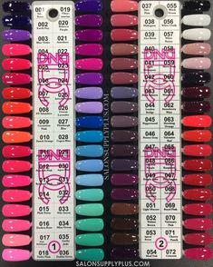 New collection by DND 144 new colors coming soon! At this time, we have 84 shades out of the 144 color collection.