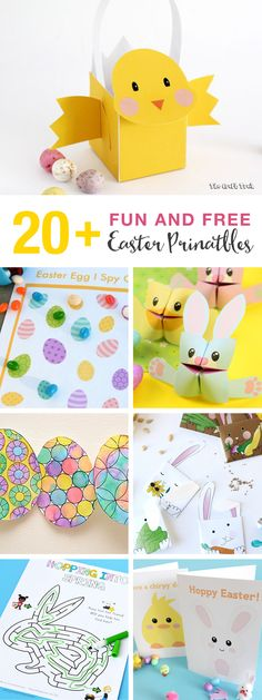 20 fun and free Easter printables for kids