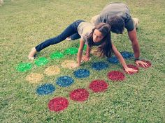 Backyard twister and 7 more fun lawn games for families. Wondering if there is a way to epoxy circles cut from rummer mats onto paving circles to make a permanent backyard twister board? Outdoor Twister, Outdoor Fun, Twister Game, Outdoor Parties, Backyard Parties, Messy Twister, Backyard Movie Party, Diy Wedding, Graduation Parties