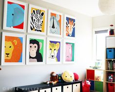 SET OF 8 prints of safari african wild zoo animals Playroom decor, playroom art, playroom prints. SET OF 8 prints of safari african wild zoo animals Playroom Wall Decor, Playroom Rules, Baby Playroom, Playroom Organization, Pottery Barn Playroom, Playroom Seating, Playroom Flooring, Playroom Ideas, Boy Room