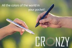 The Cronzy Pen Can Write in Over 16 Million Colors #android #google #smartphones