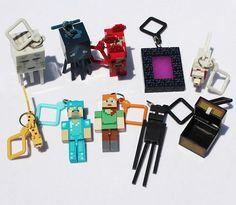 10pcs/lot 2015 juguetes minecraft toys PVC action figure set keychain best kids toys for boys brinquedos #Affiliate