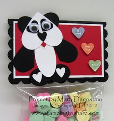 Valentine panda from Stamping to Share