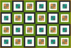 It's a Cinch to Sew This  Step-By-Step Contemporary Baby Quilt Pattern