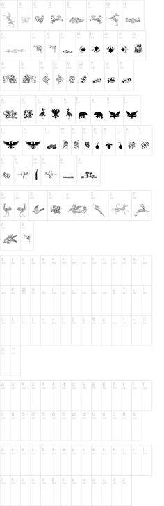 Cornucopia of Dingbats Three dafonts.com free printable fonts-typography