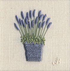 Jo Butcher, Embroidery Artist - Lavender Pot (small)