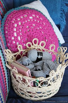 Crochet pillow inspiration by IDA Interior LifeStyle, via Flickr