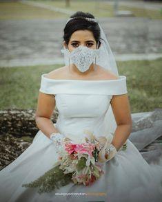 #Trending: Bridal Masks Are Now A Part Of Bridal Outfits Bridal Outfits, Bridal Dresses, Bridal Bouquets, Bridal Looks, Bridal Style, Princess Frocks, Party Wear Frocks, Christian Bride, Bridesmaid Saree