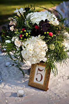 Country Wedding Table Number Ideas
