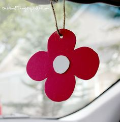 homemade car air freshener  A reader suggests attaching it to a small clip/clothespin so it can be clipped onto a vent.