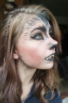 Practicing my wolf makeup for halloween.                                                                                                                                                                                 More