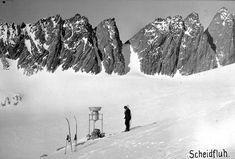 Niederschlagsmesser am Rhonegletscher, 1911 oder 1919 Snow, Outdoor, Oder, Outdoors, Outdoor Living, Garden, Eyes