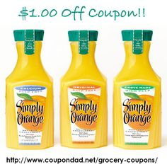 Simply Orange Coupons December 2014 - $1.00 Off   http://www.coupondad.net/simply-orange-coupons-december-2014/ #simplyorange #coupons