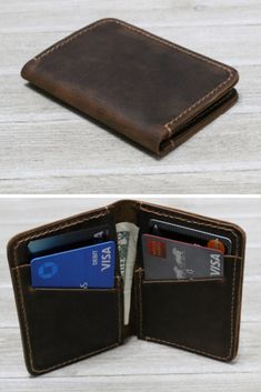 Loving the rustic look of this minimalist wallet.  #giftsforhim, #formyman, #ad