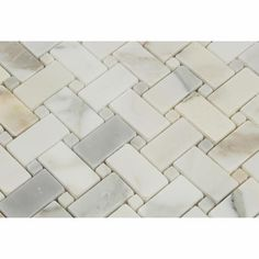 Premium (SELECT) Quality CALACATTA GOLD MARBLE BASKETWEAVE MOSAIC TILE POLISHED w/ Calacatta Gold Dots, Shower, Backsplash, Bathroom, Kitchen, Decorative, Floor, Wall, Ceiling, Powder Room, Deck & Patio, Countertop, Commercial and Residential (Interior & Exterior), Indoor, Outdoor