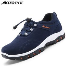 MOZOEYU Men's Breathable Outdoor Trekking Shoes New Spring Summer Men Sneakers Brand Hiking Shoes for Men Slip-on Climbing Shoes(China)