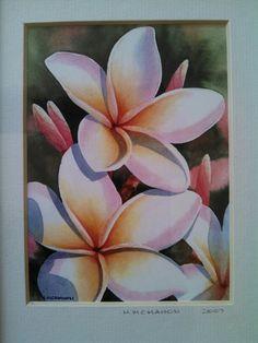 Plumeria watercolor