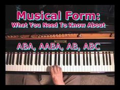 Musical Form: What You Need To Know About ABA, ABAA, ABC, Etc. Aba, Need To Know, Piano, Musicals, Teaching, School, Pianos, Learning, Education