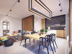 HappyModern.RU | Дизайн квартиры-студии: 80 трендов для создания современного и мультифункционального интерьера | http://happymodern.ru